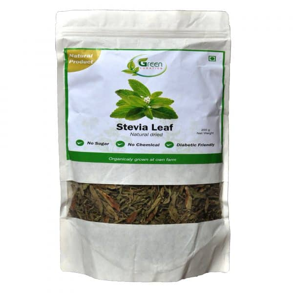 Green Curation Dried Stevia Leaves 200 Grams - Front